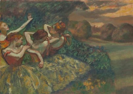 Degas, Edgar: Four Dancers. Fine Art Print/Poster. Sizes: A4/A3/A2/A1 (003747)